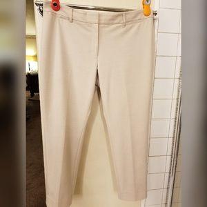 Beige Ankle Length Pants
